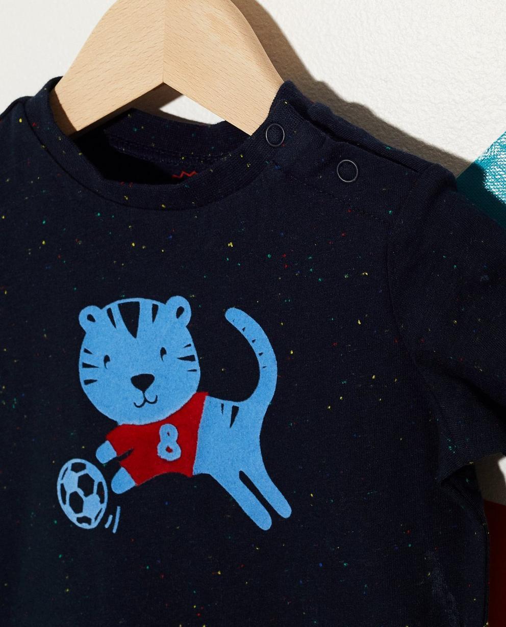 T-Shirts - Aqua - T-Shirt mit Tigerprint